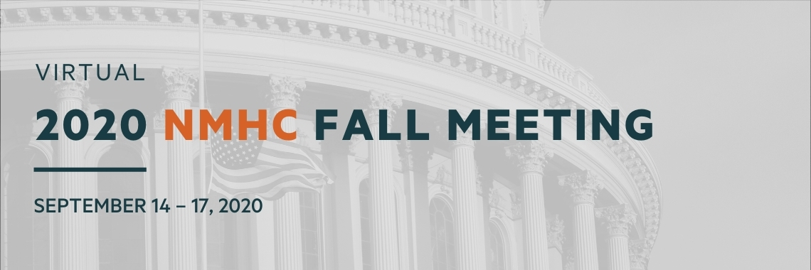 Virtual 2020 NMHC Fall Meeting - September 14 to September 17th