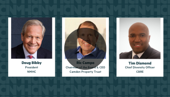 Webinar: Breaking the Glass Ceiling: Accelerating Corporate Board and C-suite Diversity  A Conversation with Ric Campo, Camden Property Trust and Tim Dismond, CBRE
